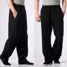 Хлопок Кунг фу Тай Чи Брюки ушу боевые искусства крыло Чун одежда тренировочные брюки