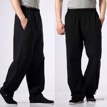 3008865c6d12 100% Cotone Kung fu Pantaloni Tai chi Wushu arti Marziali Wing Chun  Abbigliamento Formazione Pantaloni