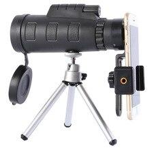 Портативный Монокуляр 50×60 HD Водонепроницаемый Двойной фокус Монокуляры зеленый фильм покрытием телескоп с подключением к мобильному телефону для спорта на открытом воздухе