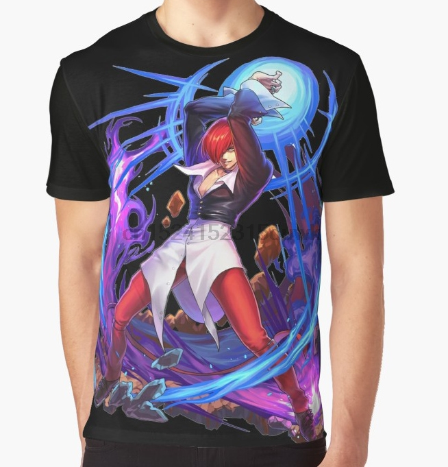The King of T-shirt Fighters Iori Yagami Cosplay t shirt menfree shipping