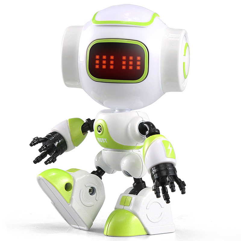 RC Robot Intelligent LED Touch Control DIY Gesture Talk Smart Mini RC Robots Remote Control Toys for Children Yellow Pink Green