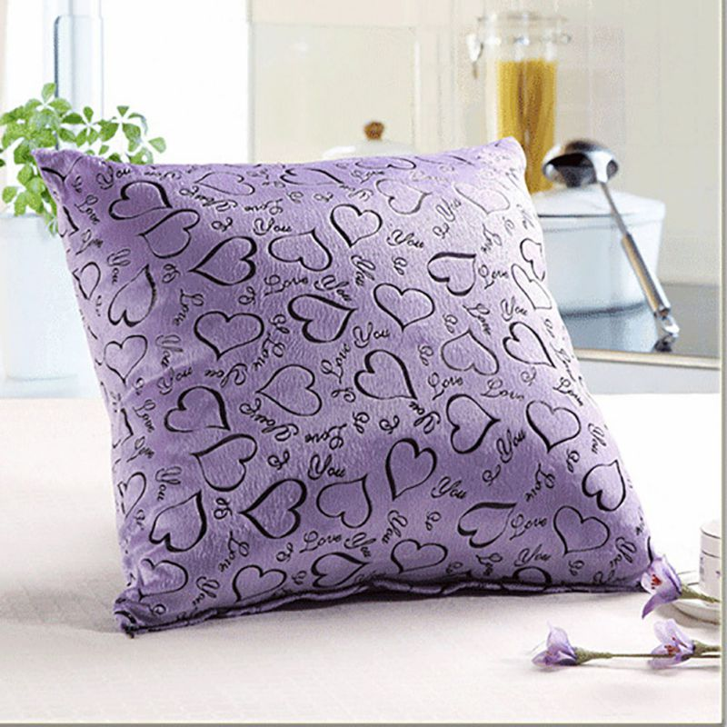 Family Soft Plush Exquisite Pillow Case Home Room Office Decora Back Throw Sofa Cushion Cover