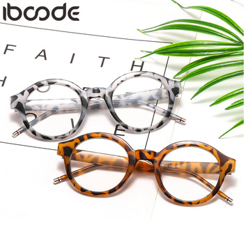 iboode 2020 Women Glasses Frame Men Eyeglasses Frame Vintage Round Clear Lens Optical Spectacle Nail Decoration Unisex Eyewear sorbern men s glasses clear lens eyewear tr90 eyeglasses frames men unisex nerd glasses women spring hinge frame glasses optic