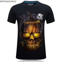 Givanildo Hot Sale l2017 New Stereo Printed Pumpkin Lantern 3D T-Shirt Short Sleeve Men Plus Szie 6XL Casual Evil Tee Shirt G057
