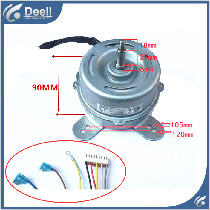 UPS / EMS 99% new good working for Air conditioner Fan motor machine motor YDK50-8H good working ups ems dhl 95% new good working for air conditioner inner machine motor fan ydk50 8g 3 7 line
