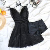 2018 new Lace young girl Push Up Black skirt style one Piece swimsuit Sexy beach wear women swimwear bathing suits