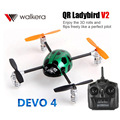 Original Walkera QR Ladybird V2 with DEVO 4 Transmitter 3D RC Helicopter 3-Axis-Gyro  2.4GHz RTF