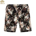 Miuk gran tamaño de lino floral beach shorts 4xl verano estilo moda bermuda masculina hasta la rodilla casual hawaii hombres 2017 nuevo
