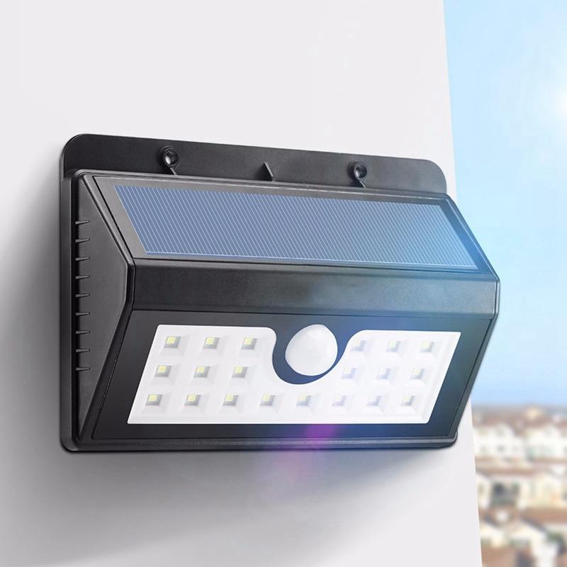 Sans fil Solaire Propulsé 20 LED Solaire Lumière Étanche IP65 PIR Motion Sensor Extérieure Clôture Jardin Lumière Pathway Applique