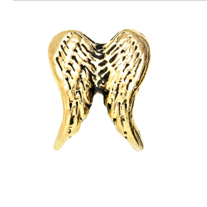 Hot selling 20pcslot gold double angel wings floating charms living glass memory floating lockets for diy jewelry