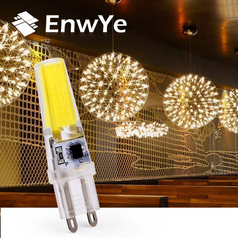 EnwYe LED G9 Lamp Bulb Dimming 220V 6W COB SMD LED Lighting Lights replace Halogen Spotlight ChandelierEnwYe LED G9 Lamp Bulb Dimming 220V 6W COB SMD LED Lighting Lights replace Halogen Spotlight Chandelier