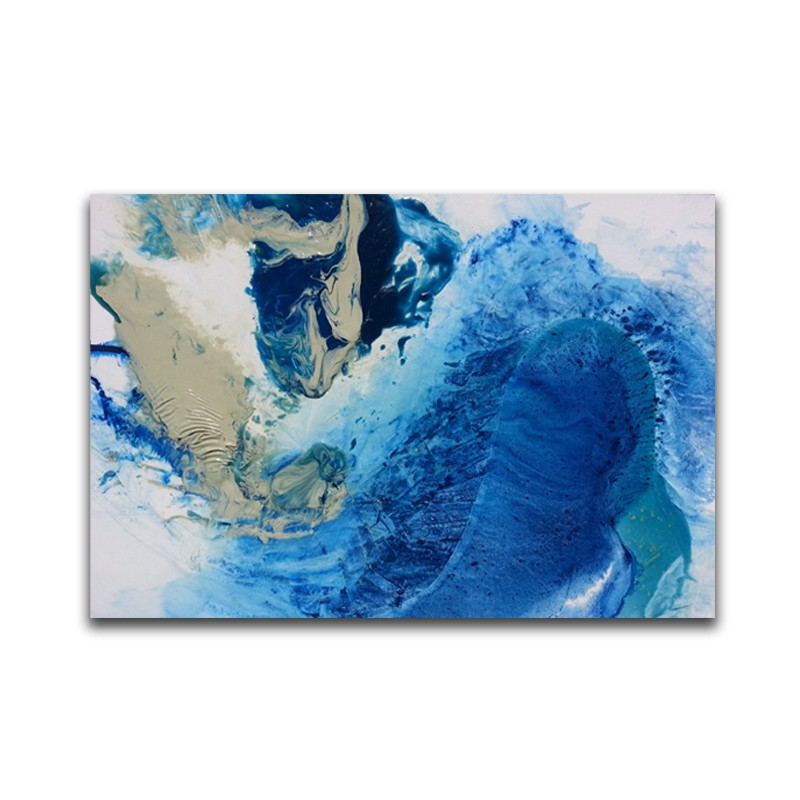 Abstract Sea Water Oil Painting Modern Style Art Suitable For house