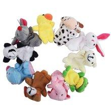 Распродажа! 10 шт./партия, детские плюшевые игрушки/пальчиковые куклы/кукольный театр Реквизит(10 группа животных) куклы животных/Детские игрушки/детский подарок