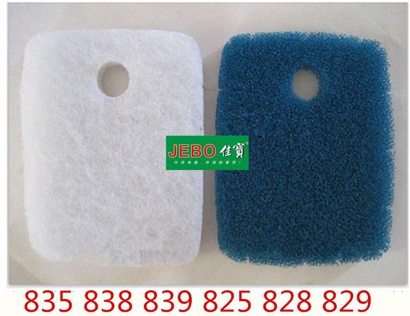 5 pz per lotto JEBO Filtro Originale Cotone Exteranl Filtro del Serbatoio del filtro Spugna Ordinaria/Biochimica Per 835 838 839 825 828 829