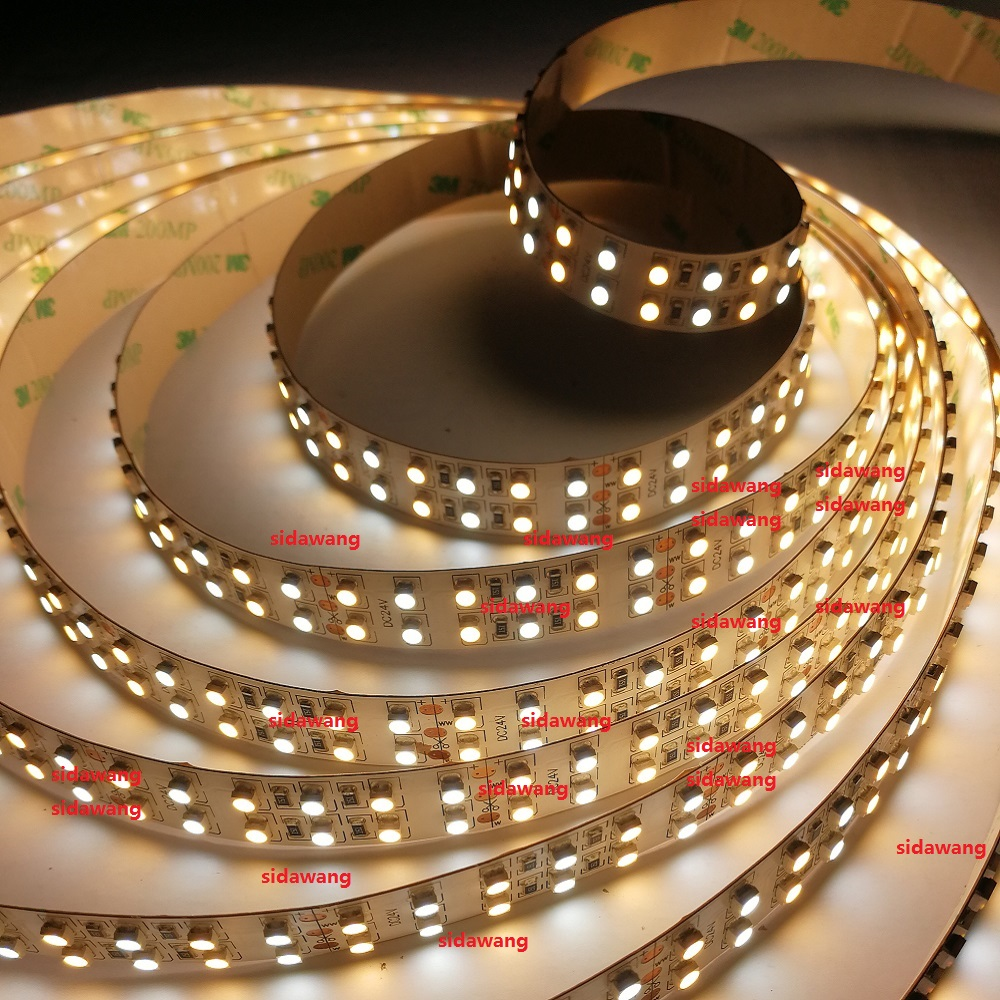 Dual Color CRI 95 Ra SMD3528 CCT Color Temperature Adjustable Dimmable LED Strip Light CW WW