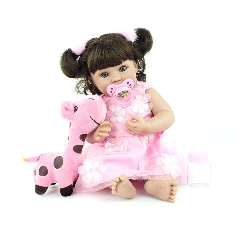 여자를위한 40 cm 전체 실리콘 reborn 아기 인형 장난감 비닐 수제 공주 미니 아기 인형 아동 목욕 장난감 collectible art-에서인형부터 완구 & 취미 의  그룹 1