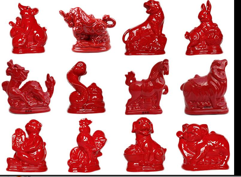 Cartoon zodiac pottery stores money jar animal ox tiger rabbit dragon snake horse sheep monkey rooster dog pig child gift