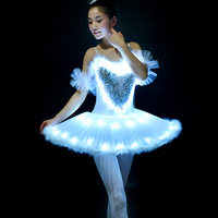 Professional Ballet Tutus LED Swan Lake Adult Ballet Dance Clothes Tutu Skirt Women Ballerina Dress For Girls Party
