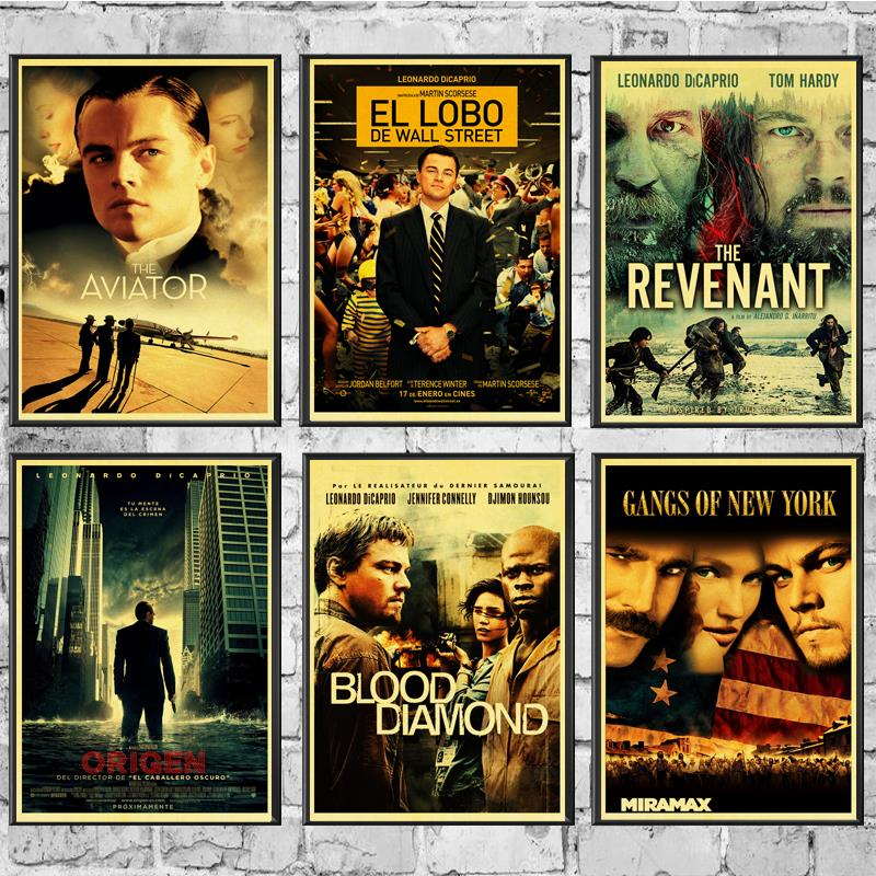 Movie Poster Leonardo DiCaprio Movie Posters Wall Stickers Vintage Poster Prints High Quality For Living Room Home Decor