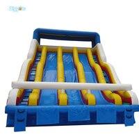 Коммерческих Класс надувной бассейн слайд три полосы слайд воды для парк hvae весело