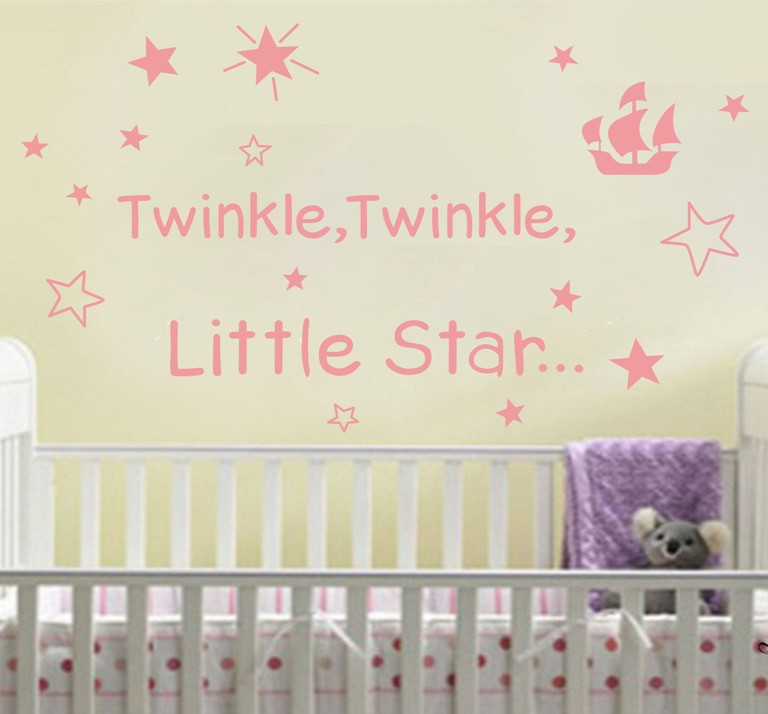Twinkle twinkle Little Star Wall Quote Art Words Decals Sticker Child Bedroom