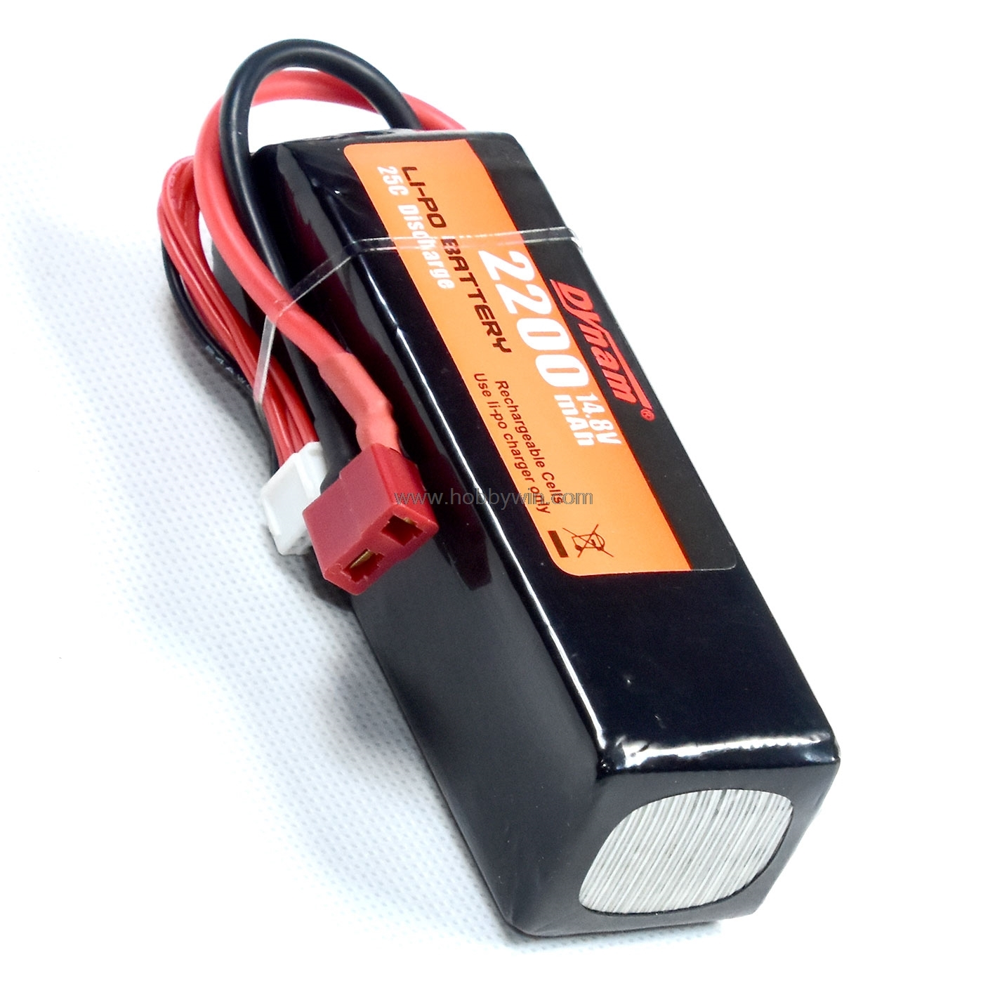 Dynam part DY-6015 4S1P <font><b>14.8V</b></font> <font><b>2200mAh</b></font> 25C LiPO battery for RC Model Airplane Tiger Moth image