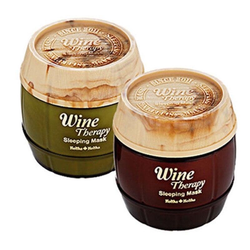 HOLIKA HOLIKA Wine Therapy Sleeping Mask Pack 120ml Red Wine Face Serum Mask Moisturizing Treatment Facial Mask Korea Cosmetics