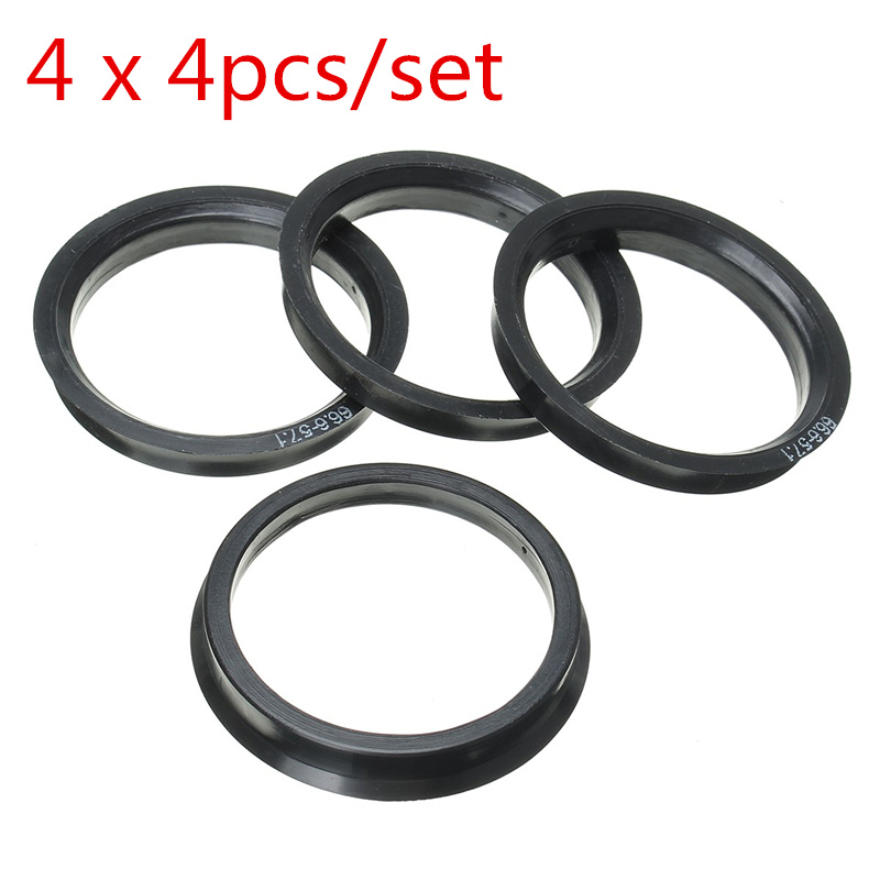 4x Centering Ring Plastic 72.6/Mm 57.1/mm Pink