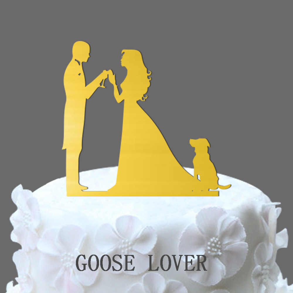 Funny Unique Wedding Cake Topper Silhouette, Cheers Cake Topper With ...