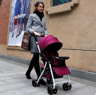 2016 luz portátil fácil lleva niños de moda cochecito de bebé de cuatro ruedas plegable cochecito lleva el bolso 4 de color para 0-36 meses