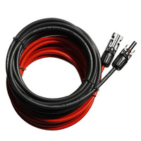 2 PCS 16.4 Ft MC4 PV Solar Panel Extensions Cable with Solar Male and Female Connector