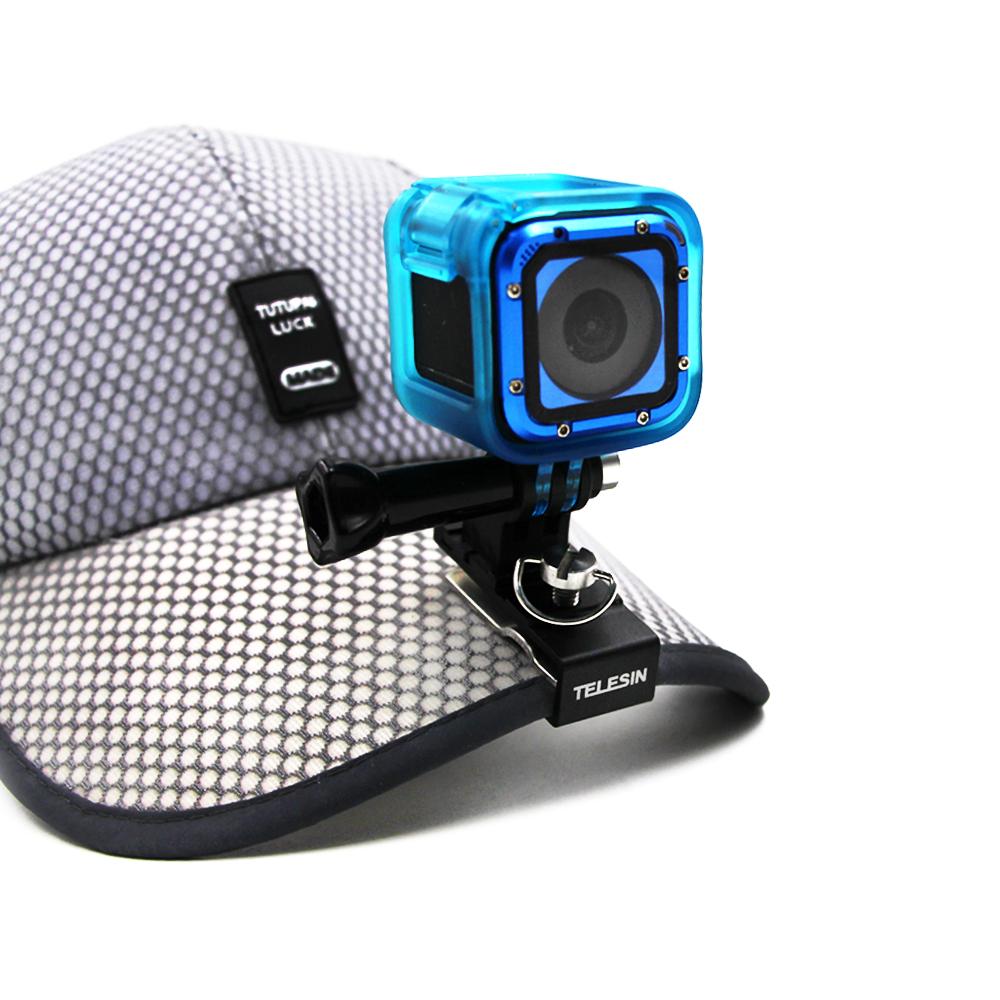 Prix pour Telesin sac à dos clip cap chapeau de fixation pour tous les gopro hero 5/4 session, hero 5 4 3 2 1, Polaroid, xiao yi 4 k, 4 K +, sjcam