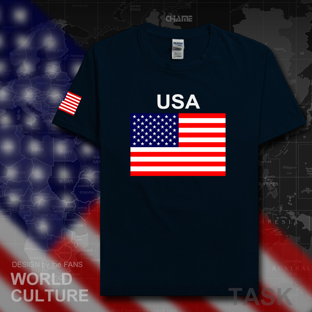 United States of America USA US   t     shirt   man jerseys 2017   t  -  shirt   100% cotton nation team cotton meeting fans streetwear American