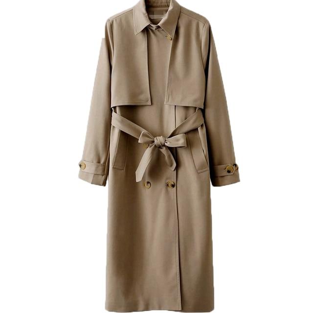 2017 europa Und Amerika Windjacke Frauen Jacken Englisch Stil Klassische  Damen Lange Frauen Mantel Zweireiher Windjacke 651d0aa814