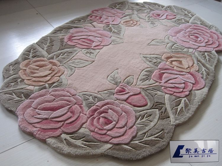 buy area rugs carpet oval shape pure wool carpet living room rose