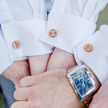 Wood Cufflinks Dad Father Bride Wooden Cuff Links Wedding Groomsmen Pair