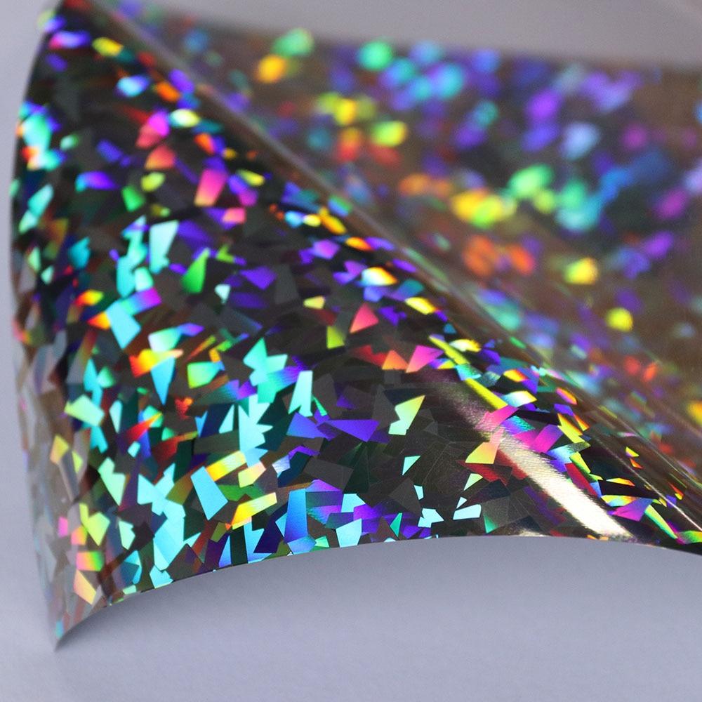 50x100cm Crystal Silver Holographic Heat Transfer Vinyl