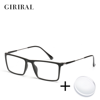 TR90 homens prescrição óculos vintage miopia optical visão óculos de leitura do computador de cor clara transparente # YX0261
