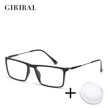 Tr90 남자 처방 안경 빈티지 근시 광학 컬러 컴퓨터 읽기 명확한 투명한 시력 안경 # yx0261