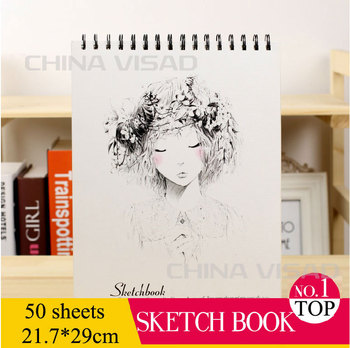 Szkicownik w A4 puste szkicownik do malowania notebooki papier do malowania tanie i dobre opinie Malarstwo papier TAI YI HONG VD-BP-00101 A4 =21 7*29cm White = like the picture 50 sheets pack