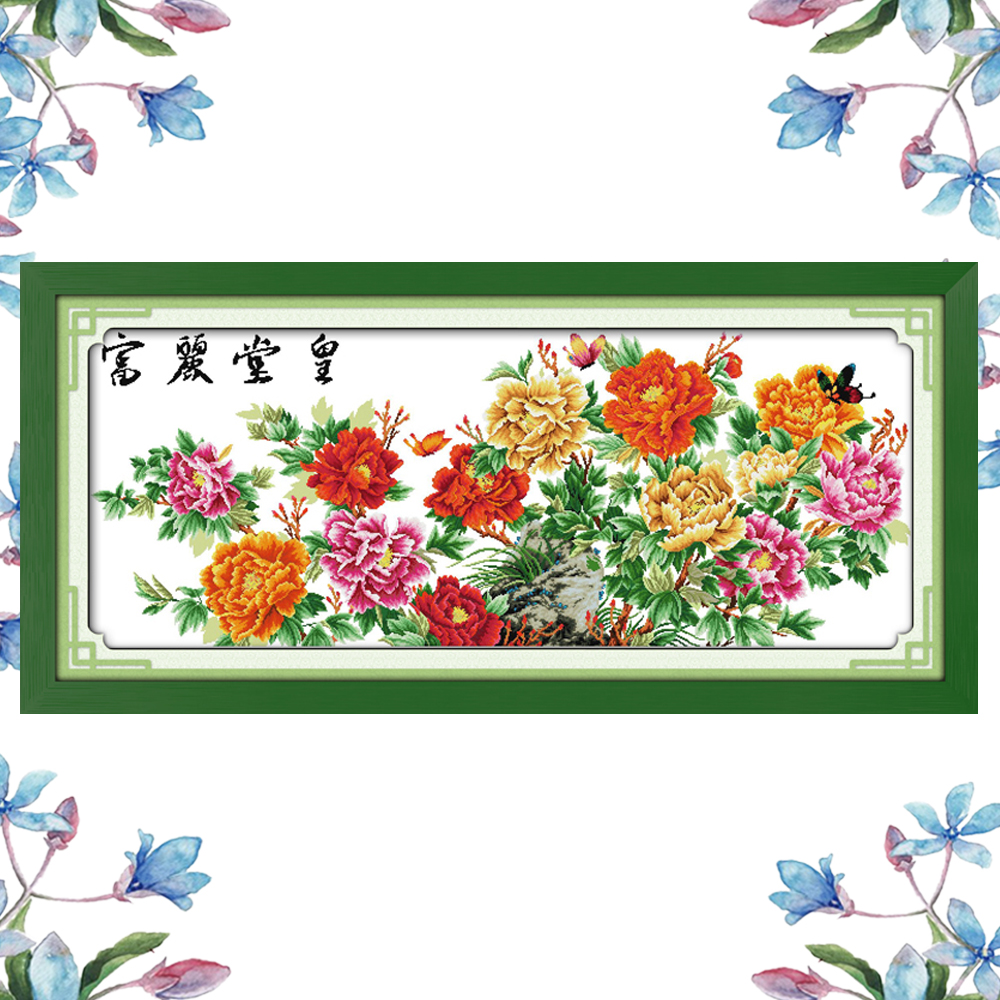 NKF Magnificence Counted Or Stamped DIY Kits Handicraft Chinese Cross Stitch Embroidery Packs Cross Stitch Counting Patterns