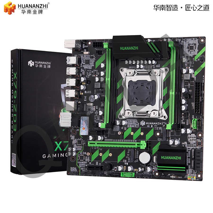 HUANANZHI X79 материнская плата huanan X79 LGA2011 ATX SATA3 USB3.0 Dual PCI-E 16X NVME M.2 SSD Поддержка регистровая и ecc-память ram Xeon E5 cpu