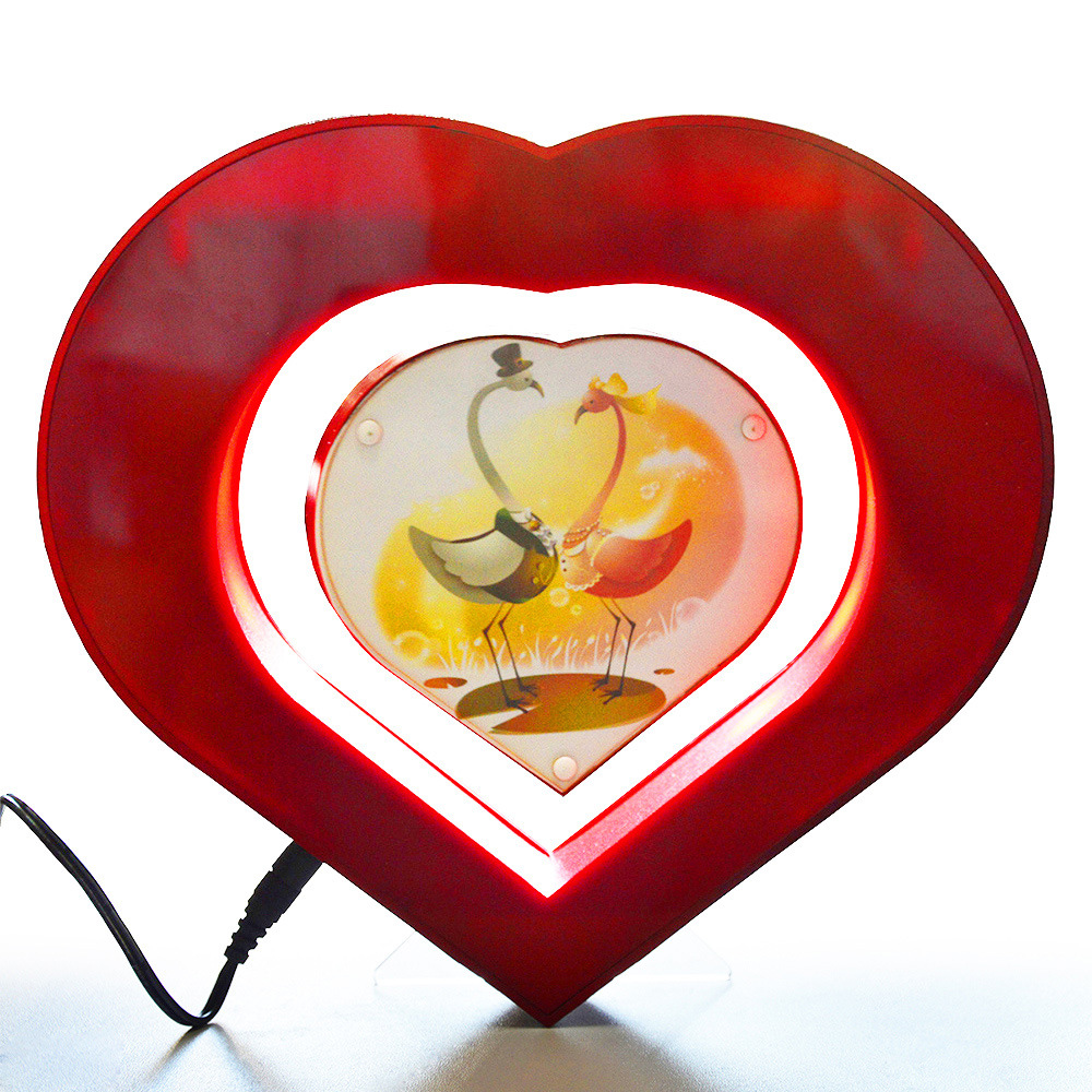 Herz Form magnetschwebebahn schwimmdock bilderrahmen neuheit ...