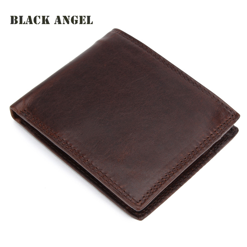 New Men Genuine Crazy Horse Leather Wallets Cowhide Male Short Bifold card holder wallet Coin Purse,carteira masculina crazy horse leather billfolds wallet card holder leather card case for men 8056r 1