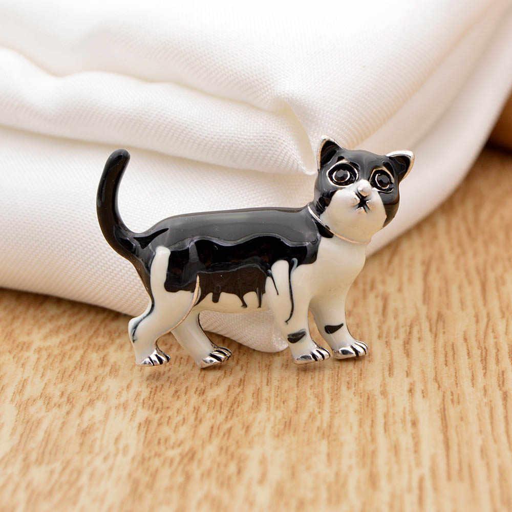 Cindy Xiang Cute Cat Spille per Le Donne Smalto Bambini Spilli 3 Colori Disponibili Monili Animali di Modo Borsa Cappotto Accessori Regalo