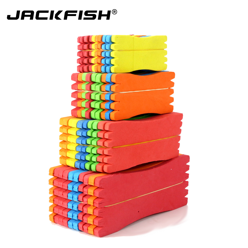 JACKFISH 50Pcs/lot Foam Spon Fishing Line Plate Fishing Winding Line Board 8cm/10cm/12cm15cm Carp Lure Trace Wire Leader Swivel