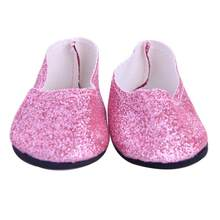 Mooistar #3022D Dolls Accessories 2017 Flash Powder Shoes Dress Shoe For 18 inch Our Generation American Girl Doll(China)