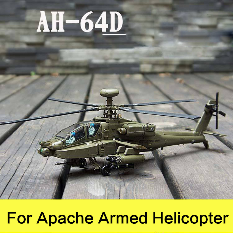 Prenoy Military Alloy Airplane Model Fighter AH-64D US Carrier Apache Armed Helicopter Diecast Scale Model Toys Stand Craft 1:72 fov print 84208 us apache longbow helicopter gunships 1 48 alloy model fm