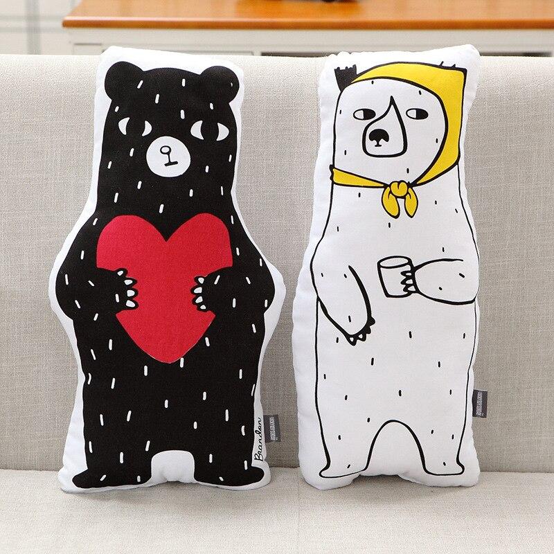 Cute Bear Ins 50*25cm Children Kids Bedroom Toy Dolls Sofa Car Seat Cushion Baby Photography Prop Baby Sleeping Calm Doll