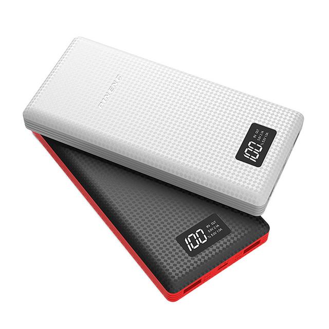 PINENG Doble Carga USB 20000 mAh Portátil Banco de Alimentación externa Powerbank Móvil Cargador de Batería con Batería de Li-polímero